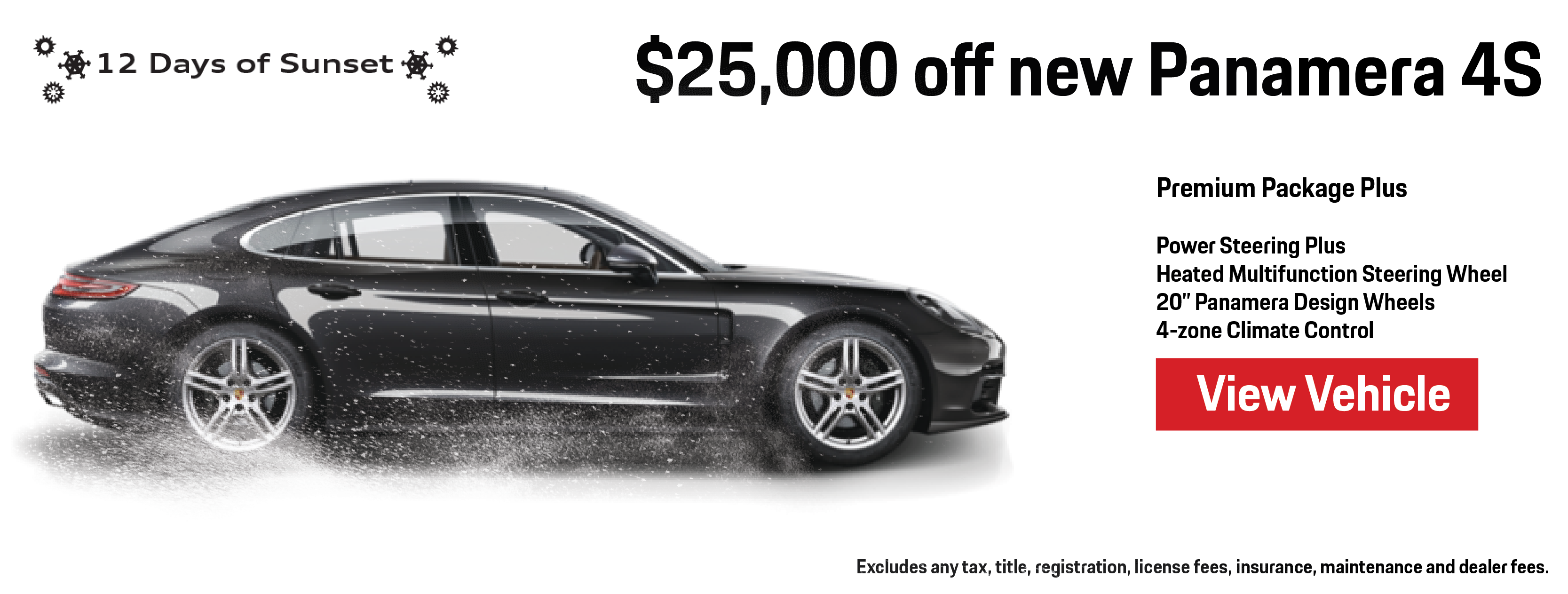 12 Days of Sunset   Day 1   Save $25,000 on new Panamera 4S   Learn More